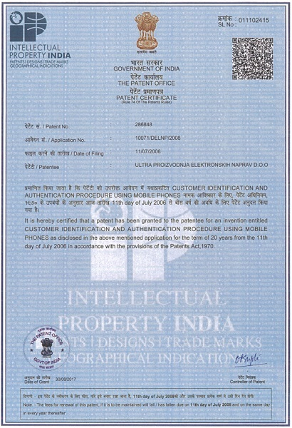 Margento gets a new Patent granted in India